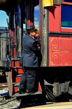 Strasbirg, PA: Conductor on Train Platform Royalty Free Stock Image