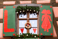 Strasboug 2015年12月 圣诞节装饰在史特拉斯堡, Als 库存照片