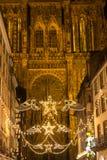 Strasboug December 2015 .Christmas decoration at Strasbourg, Als Stock Photography