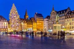 Strasboug December 2015 .Christmas decoration at Strasbourg, Als Stock Image