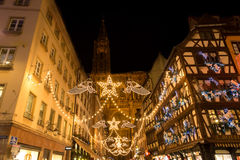 Strasboug December 2015 .Christmas decoration at Strasbourg, Als. Strasboug December 2015 .Christmas decoration in Christmas market, Alsace, France Stock Photography