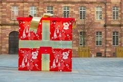 Strasboug December 2015 Julgarnering på Strasbourg, Als Fotografering för Bildbyråer
