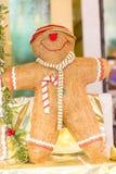 Strasboug December 2015 Kerstmisdecoratie in Kerstmis marke Stock Foto's