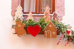 Strasboug dicembre 2015 Decorazione di Natale a Strasburgo, Als Immagini Stock