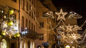 Strasboug dicembre 2015 Decorazione di Natale a Strasburgo, Als Fotografie Stock Libere da Diritti