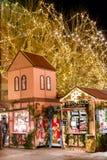 Strasboug dicembre 2015 Decorazione di Natale a Strasburgo, Als Immagine Stock