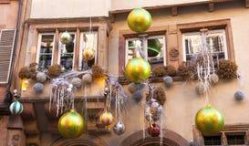 Strasboug en décembre 2015 Décoration de Noël à Strasbourg, SAL Photos stock
