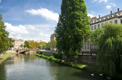 Strasboug Ill river Royalty Free Stock Photography