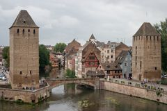 Strasbourg. French-Alsace-Strasbourg-Barrage Vauban stock image