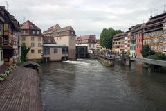 Strasbourg. French-Alsace-Strasbourg-Homes on the river Royalty Free Stock Images