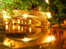 Strasbourg. Quay of strasbourg in france the night Royalty Free Stock Photo