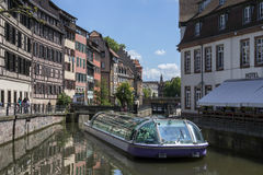 Strasbourg in the Alsace region of France Royalty Free Stock Images