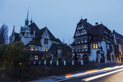 Strasbourg architecture in the evening Royalty Free Stock Photos