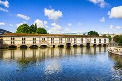 Strasbourg, barrage Vauban and medieval bridge Ponts Couverts. A Royalty Free Stock Photos
