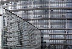 European Parliament with big glass facades