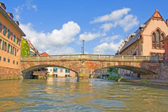 Strasbourg bridge Royalty Free Stock Photo