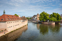 Strasbourg, bridge Ponts Couverts in Petite France Stock Images