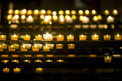 Strasbourg - Candles in the cathedral Royalty Free Stock Image