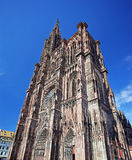 Strasbourg cathedral. Notre Dame cathedral in Strasbourg royalty free stock image
