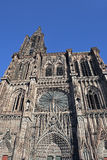 Strasbourg Cathedral. On a warm sunny day Royalty Free Stock Photography
