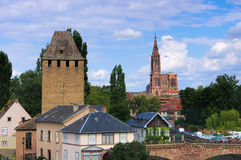 Strasbourg cathedral in Alsace Stock Photos