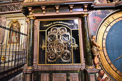 Strasbourg Cathedral calculation religious holidays Royalty Free Stock Photos