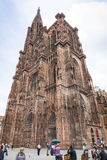 Strasbourg Cathedral (Cathedrale Notre-Dame de Strasbourg), Alsa Royalty Free Stock Photo