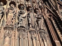 Strasbourg Cathedral - detail. Strasbourg Cathedral or the Cathedral of Our Lady of Strasbourg stock photo