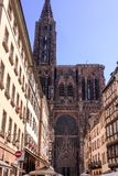 Strasbourg Cathedral in France Stock Images