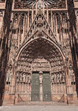 Strasbourg Cathedral,main portal Stock Images