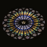 Strasbourg Cathedral Stained Glass Rose Window Stock Photos