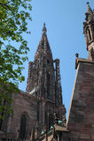Strasbourg Cathedral Steeple. Steeple of Strasbourg Cathedral de Norte-Dame in France royalty free stock image