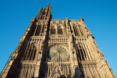 Strasbourg cathedral view Royalty Free Stock Image