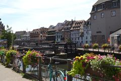 Strasbourg channels Royalty Free Stock Photography