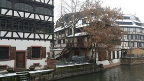 Strasbourg at Christmas and rivers. Strasbourg at Christmas and the river, this time we entered 2015 with unfrozen river Stock Image