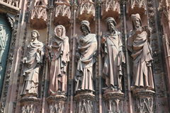 Strasbourg church wall Stock Photography