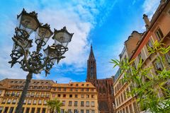 Strasbourg city and Notre Dame Cathedral France Stock Photo