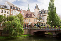 Strasbourg cityscape in the historical center. Alsace, France Stock Photos
