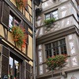 Strasbourg del av det trevliga huset i Petite France område Arkivbild