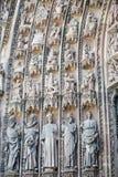 Strasbourg - den gotiska domkyrkan, skulpturer Arkivfoton