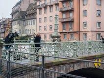 Strasbourg França após ataques terroristas no mercado do Natal foto de stock