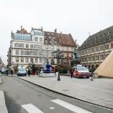 Strasbourg França após ataques terroristas no mercado do Natal fotografia de stock royalty free