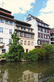 Strasbourg, France. Channel and historical buildings in tourist area 'Petite France' in Strasbourg, France royalty free stock images