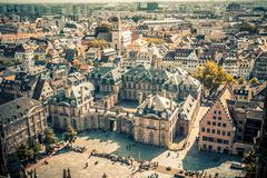 Strasbourg France from above vintage stock photography