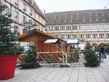 Strasbourg France après des attaques terroristes au marché de Noël photographie stock libre de droits