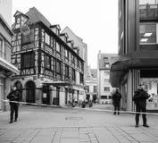 Strasbourg France après des attaques terroristes au marché de Noël photos stock