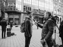 Strasbourg France après des attaques terroristes au marché de Noël photo libre de droits
