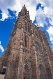 STRASBOURG, FRANCE - APRIL 1, 2017- Cathedral of Our Lady Notre Dame of Strasbourg in Alsace. The historic center Royalty Free Stock Images