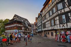 STRASBOURG, FRANCE - 15 August 2016: Half-timbered houses in Str Stock Photography