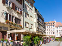 STRASBOURG, FRANCE - August 23 : Street view of Traditional hous Royalty Free Stock Photo